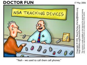 NSA Tracking Devices Cartoon